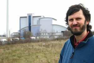 Graham Wroe outside Bernard Road incinerator
