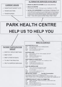 park health centre help us to help you