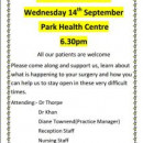 Link to Meeting at Park Health Centre